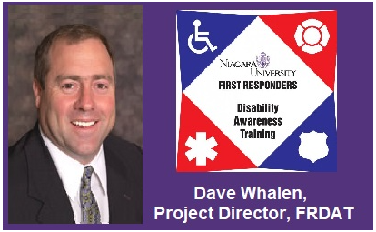 Dave Whalen picture and First Responders DIsability Awareness training logo